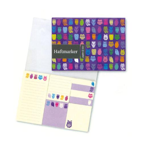 """Haftmarker """"Papier und Feder"""", lila"""